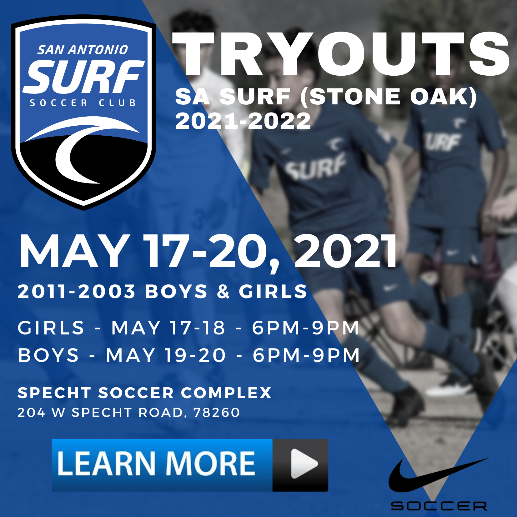 TRYOUT INFORMATION
